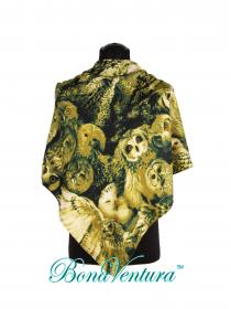 BonaVentura — Платок большой, шерстяной с печатным рисунком вар.3