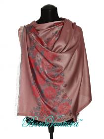 BonaVentura — Палантин шелковый с розами на купоне