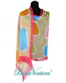 BonaVentura — Палантин хлопковый с абстрактным рисунком