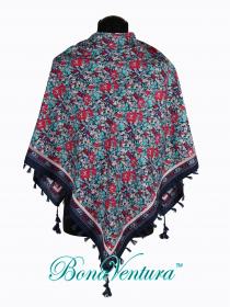 BonaVentura — Платок большой, хлопковый с печатным рисунком
