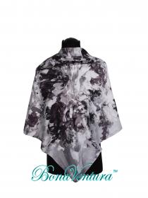 BonaVentura — Платок большой, шелковый с изображением ирисов