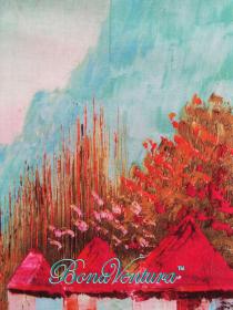 BonaVentura — Палантин  хлопковый, с печатным рисунком, вар.12