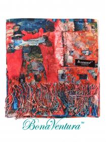 BonaVentura — Платок большой хлопковый, с печатным рисунком, вар.2