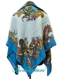 BonaVentura — Платок большой шерстяной, с печатным рисунком