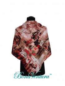 BonaVentura — Платок большой, шерстяной, с печатным рисунком, вар. 8