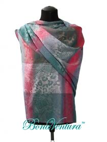 BonaVentura — Палантин шелковый, комбинированные шкуры