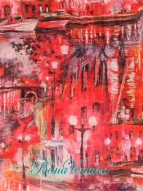 BonaVentura — Палантин  хлопковый, с печатным рисунком, вар.11