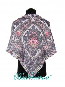 BonaVentura — Платок большой, шелковый, огурцы
