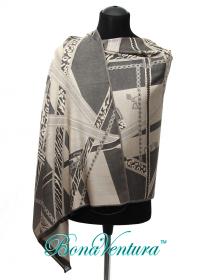 BonaVentura — Палантин шелковый с абстрактным рисунком
