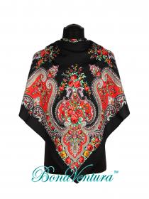 BonaVentura — Платок большой, шерстяной с печатным рисунком вар.5