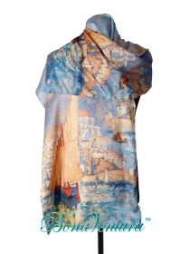BonaVentura — Палантин шелковый с картинами