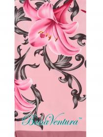 BonaVentura — Платок большой, шелковый с печатным рисунком вар.4